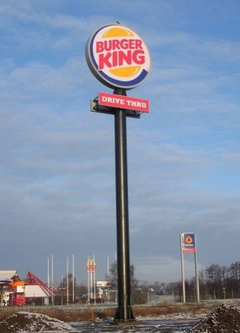 Burger King stolpskylt