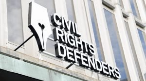 Civil Rights Defenders LED-bokstäver