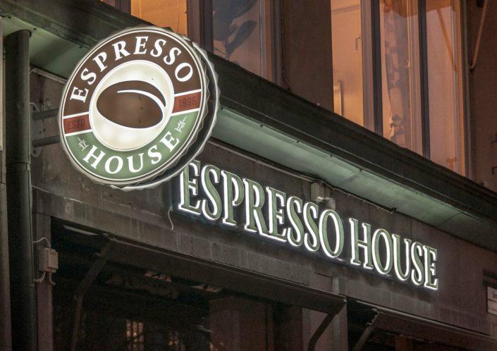 Espresso House fasadskyltar