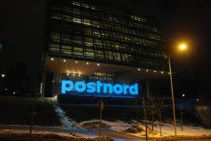 PostNord Huvudkontor Solna företagsskylt