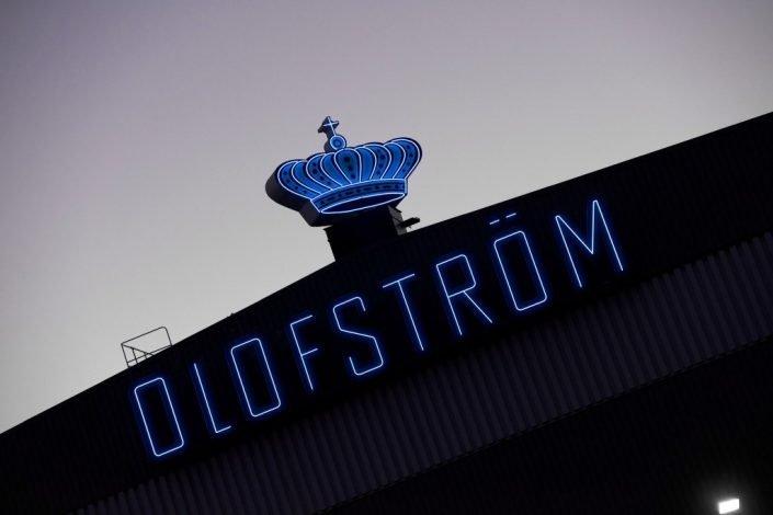Neonliknande LED-skylt Volvo Olofström