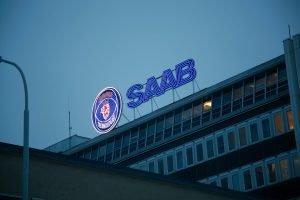SAAB takskylt