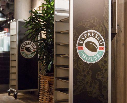 Espresso House dekorvinyl brickvagn